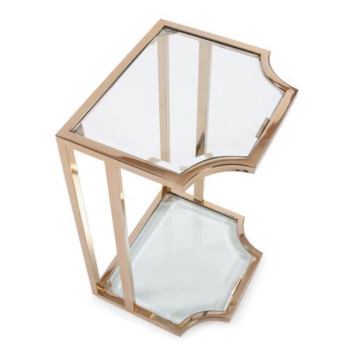 Howard Elliott - Scalloped Edge Gold Side Table