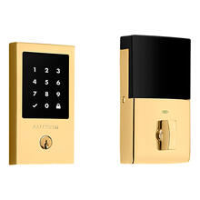 Lifetime Polished Brass Minneapolis Touchscreen Z-Wave Smart Electronic Deadbolt