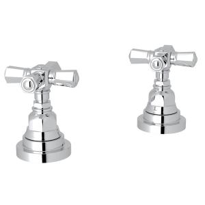 """Polished Chrome San Giovanni Set Of Hot & Cold 1/2"""" Sidevalves with Cross Handle Product Image"""