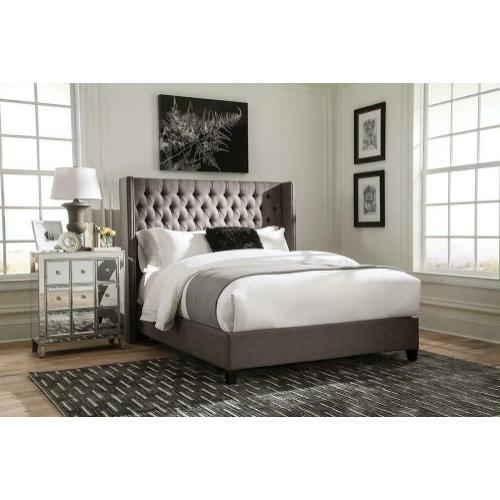 Benicia Grey Upholstered Full Bed