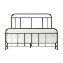 Kirkland Metal King Bed, Aged Pewter