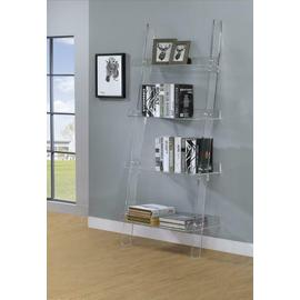 See Details - Amaturo Clear Acrylic Ladder Bookcase