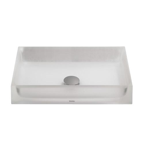 Luminist Rectangle Vessel Lavatory - Frosted White