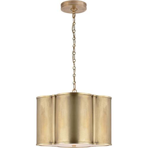Alexa Hampton Basil 2 Light 19 inch Natural Brass Hanging Shade Ceiling Light