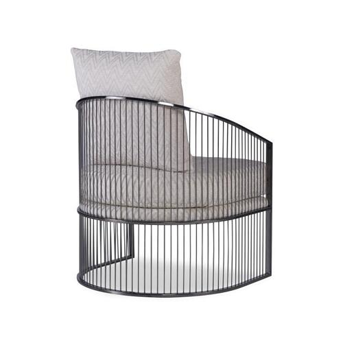 Ruffalo Black Nickel Barrel Chair