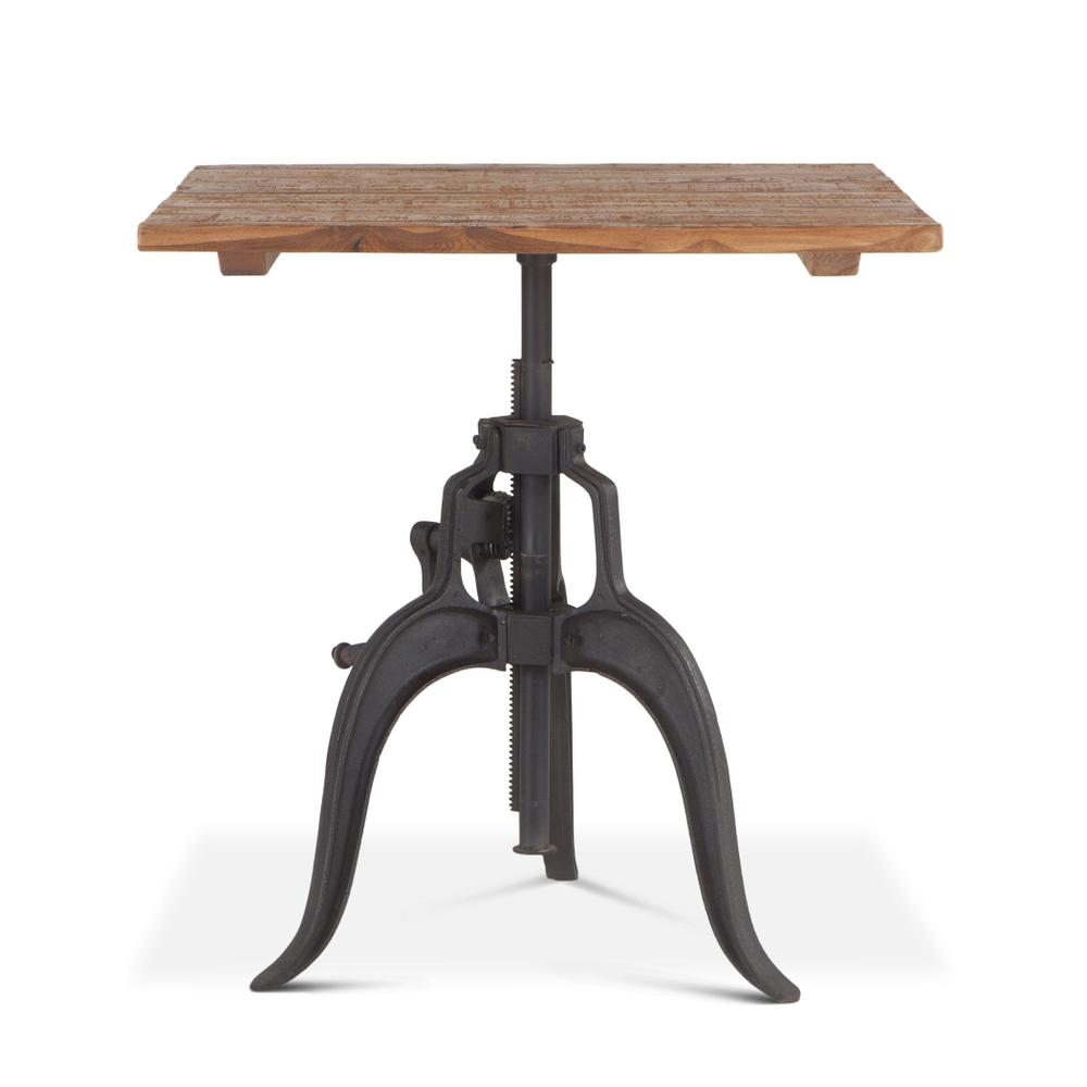 """Industrial Loft 30"""" Adjustable Square Dining Table"""