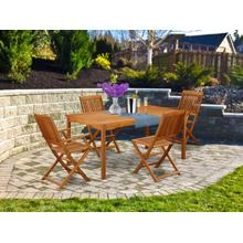 This 5 Piece Acacia Hardwood Outside patio Dining Sets includes one Outdoor-Furniture table and 2 side foldable Outdoor-Furniture chairs and Two arm foldable chairs