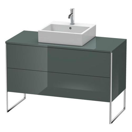 Product Image - Vanity Unit For Console Floorstanding, Dolomiti Gray High Gloss (lacquer)