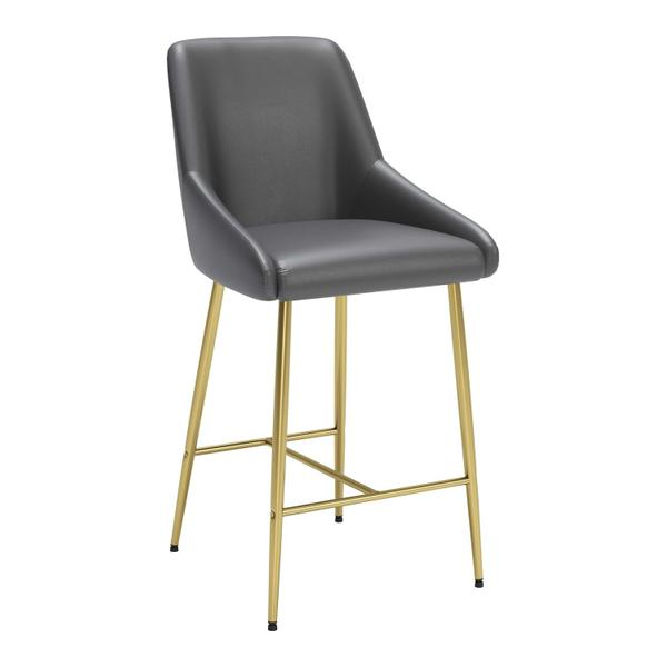 See Details - Madelaine Counter Chair Gray