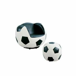 ACME All Star 2Pc Pack Chair & Ottoman - 05525 - Soccer: White & Black