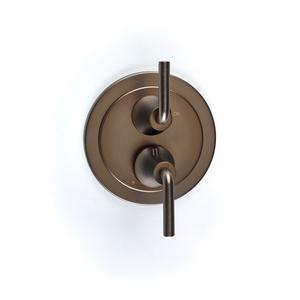 Taos Dual-control Thermostatic Valve Trim with Volume Control - Phase out - Bronze