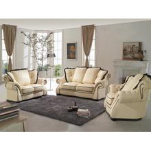 Product Image - Divani Casa 0614 Modern Beige & Black Bonded Leather Sofa Set