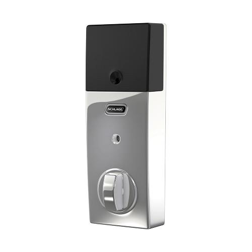 Schlage Connect Smart Deadbolt with alarm with Century trim, Z-wave enabled - Bright Chrome