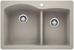 Diamond 1-3/4 Bowl With Ledge - Concrete Gray Product Image