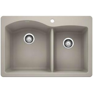 Diamond 1-3/4 Bowl With Ledge - Concrete Gray