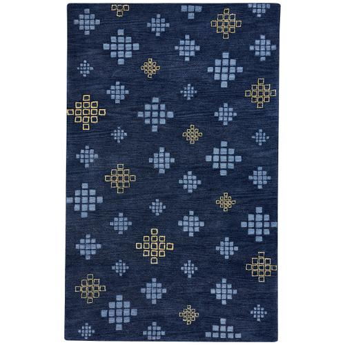 Glace Crystal Blue Maize Hand Tufted Rugs