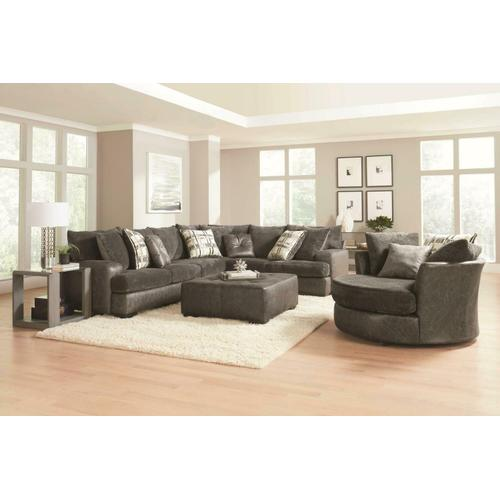 2 Piece Charcoal Sectional