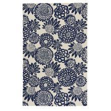 Flower Pop Navy - Rectangle - 5' x 8'
