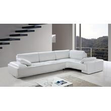 See Details - Divani Casa Blanco - Modern Leather Sectional Sofa