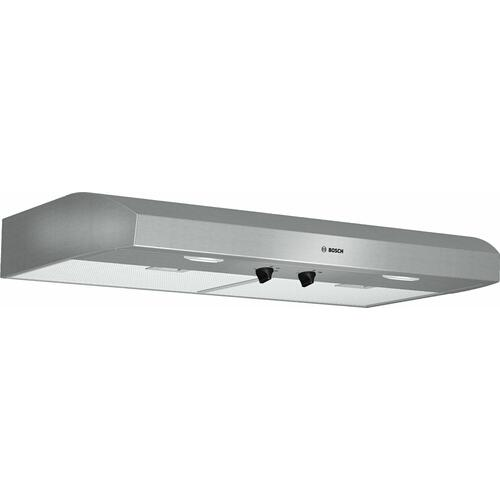 "Bosch - 500 Series, 36"" Under-cabinet Hood, 400 CFM, Halogen lights, Stnls"