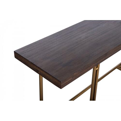 VIG Furniture - Modrest Patty - Mid-century Acacia & Brass Console Table
