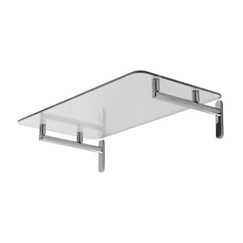 "Polished Chrome 24"" Hotel Shelf"