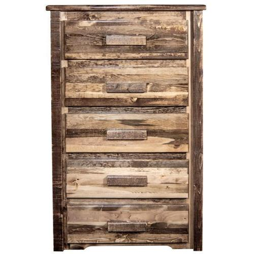 Montana Woodworks - Homestead Collection 5 Drawer Chest of Drawers, Stain and Lacquer Finish
