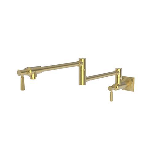 Newport Brass - Satin Gold - PVD Pot Filler - Wall Mount