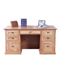 Forest Designs Mission Oak Desk: 60W x 30H x 28D - 60w