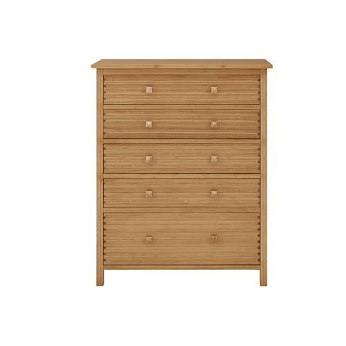 Hosta Five Drawer Chest, Caramelized