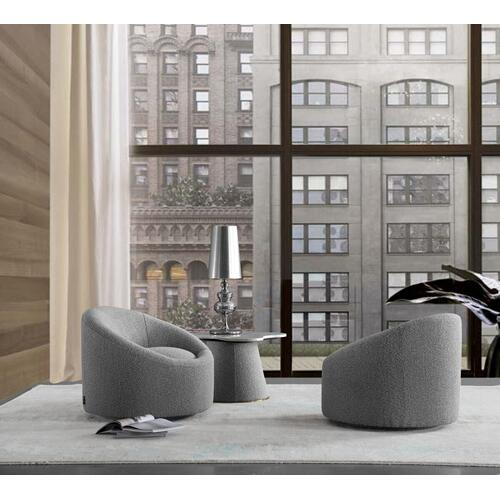 VIG Furniture - Modrest Frontier - Glam Grey Fabric Accent Chair