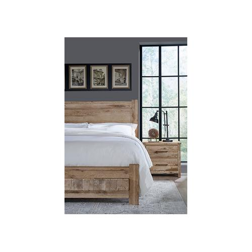 Vaughan-Bassett - King Poster Bed with 6x6 FB