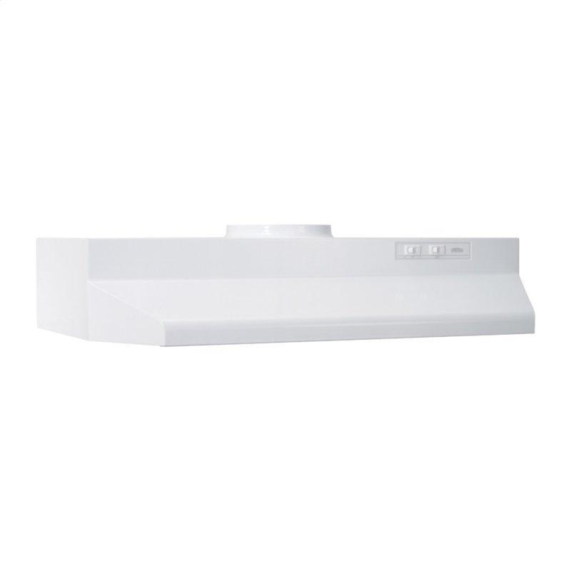 Broan® 24-Inch Under-Cabinet Range Hood, White