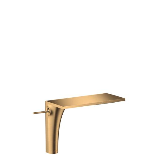Brushed Brass Single lever basin mixer 220 for wash bowls with waste set