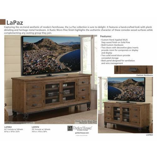 LAPAZ 76 in. TV Console