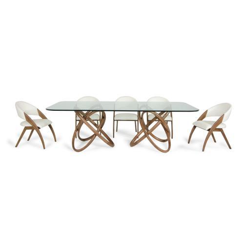 Product Image - Modrest Mason & Lucas Modern Walnut Dining Set