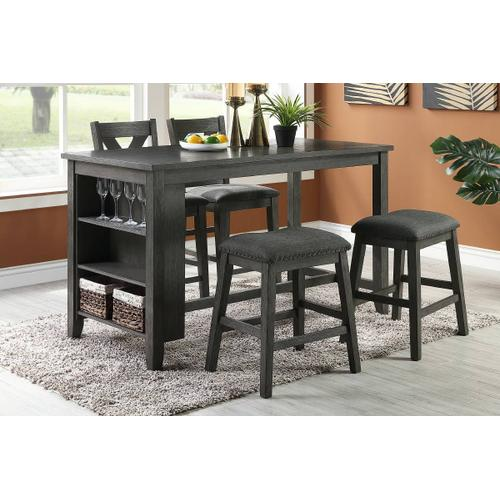 Counter Height Table W Storage, Bar Height Table With Storage