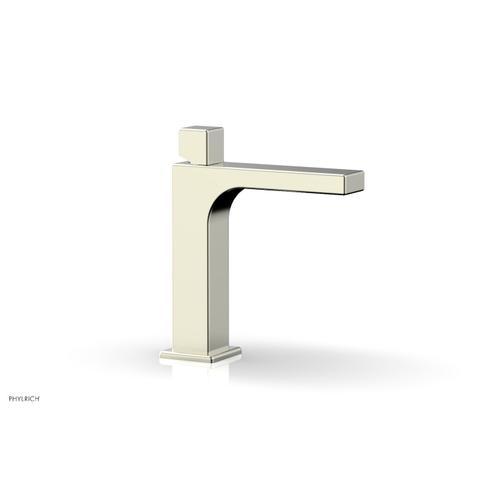 MIX Single Hole Lavatory Faucet, Cube Handle 290-08 - Satin Nickel