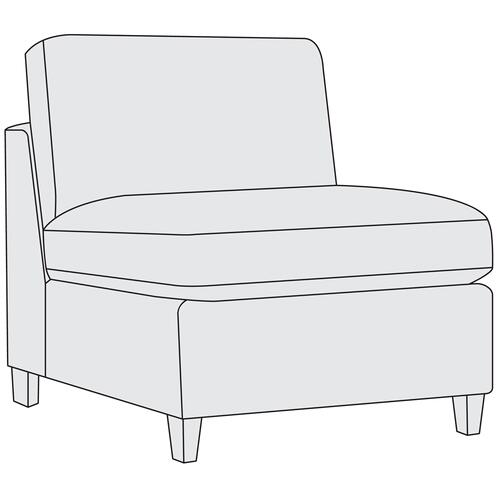 Bernhardt - Joli Armless Chair in Aged Gray (788)