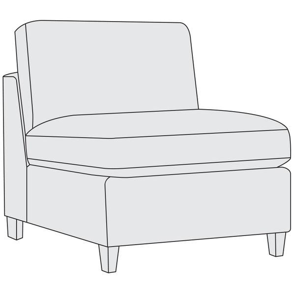 See Details - Joli Armless Chair in Aged Gray (788)