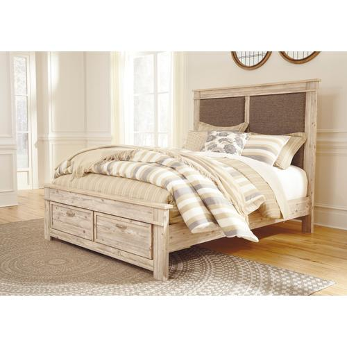 Willabry - Weathered Beige 4 Piece Bed Set (Queen)