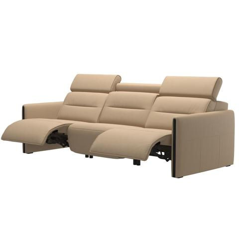 See Details - Stressless® Emily 3 seater with 2 motors arm wood