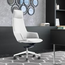 See Details - Modrest Gates - Modern White High Back Executive Office Chair