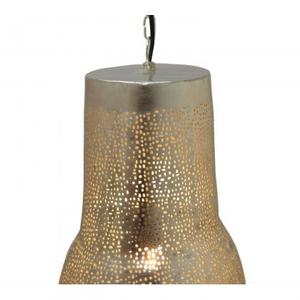 Kenitra F/Vase Style Pendant lamp small/Iron/Silver and mesh finishing/8.7x8.7x2