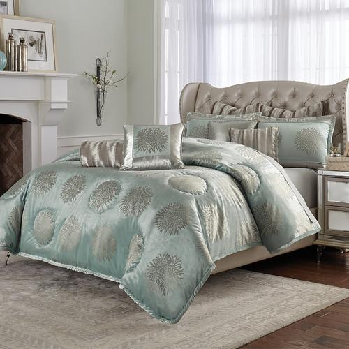 10pc King Comforter Set Ice Blue