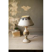 See Details - table lamp with metal base & metal shade