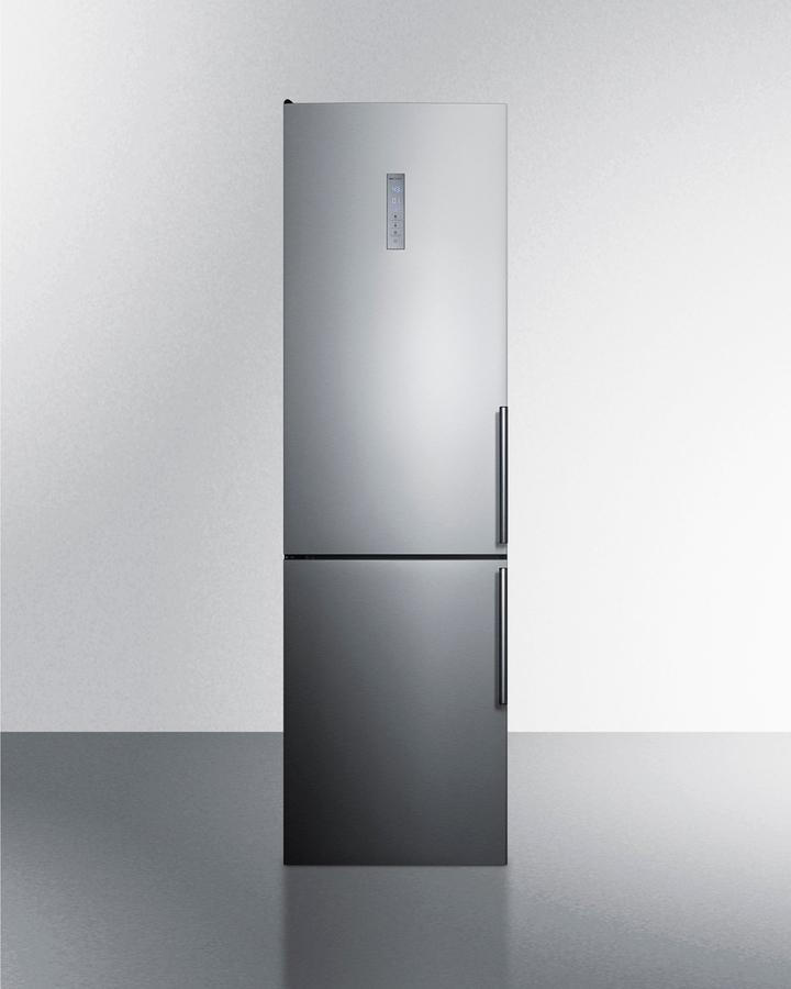 """Summit24"""" Wide Built-In Bottom Freezer Refrigerator"""