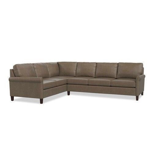 Wellington Leather L-Shaped Sectional