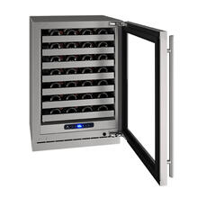 "Hwc524 24"" Wine Refrigerator With Stainless Frame Finish and Left-hand Hinge Door Swing (115 V/60 Hz Volts /60 Hz Hz)"