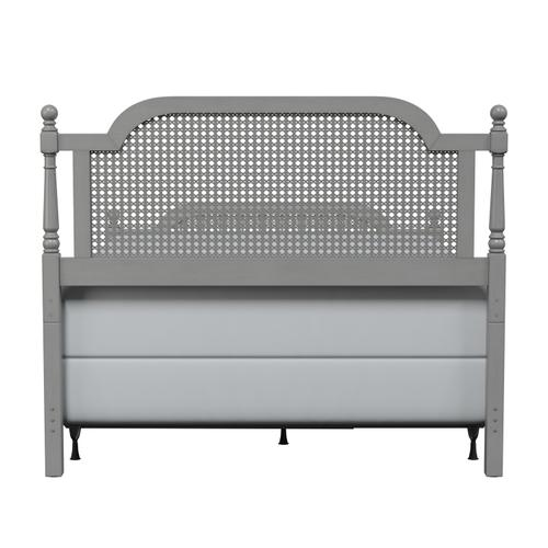 Melanie Queen Wood Bed, French Gray